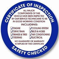 Safety and Inspection Sickers