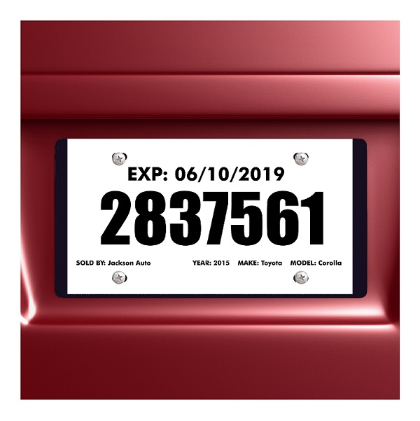 Tear Resistant Temporary Tags For Car Dealers 1 Tear Off Portion Blank Printable Pkg Of 100 5 Mil 5190 4 Autodealersupplies Com Is Your 1 Source For Auto Dealer Supplies