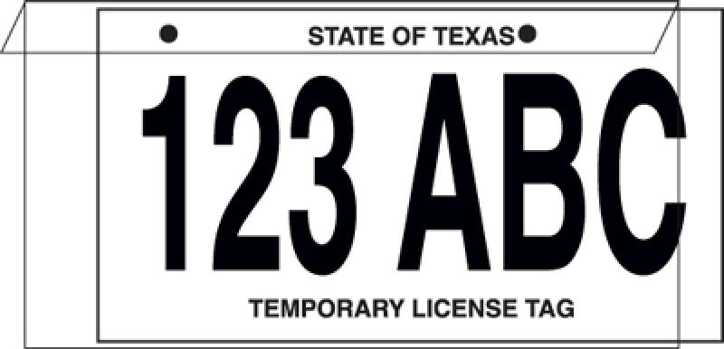 Temporary License Plate Protector Jackets Ez241