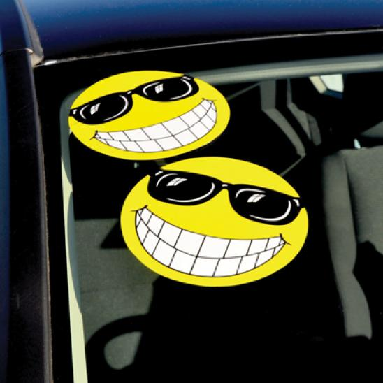 Happy Face With Sunglasses Decal Sticker Ez150