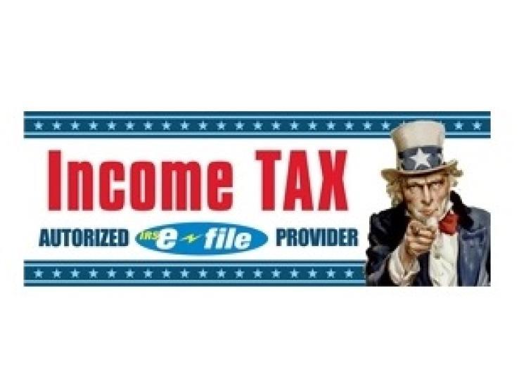 Blowout Sale Income Tax Banner 3x8 Nssb A38251