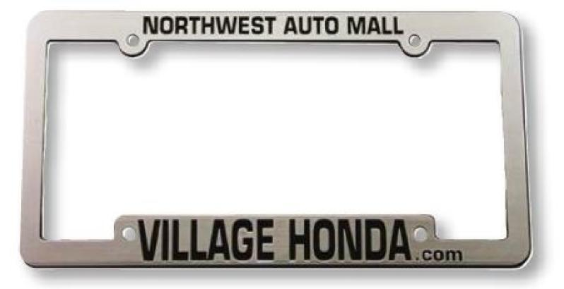 Shiny chrome premium license plate frames - recessed letters. Qty ...