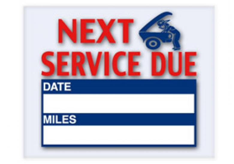 Oil Change Sticker Amp Service Reminder Printing System