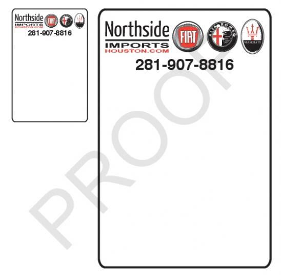 5 rolls custom oil change stickers northside imports