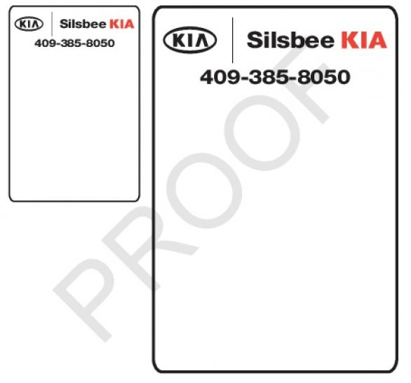 5 rolls custom oil change stickers silsbee kia job 841460
