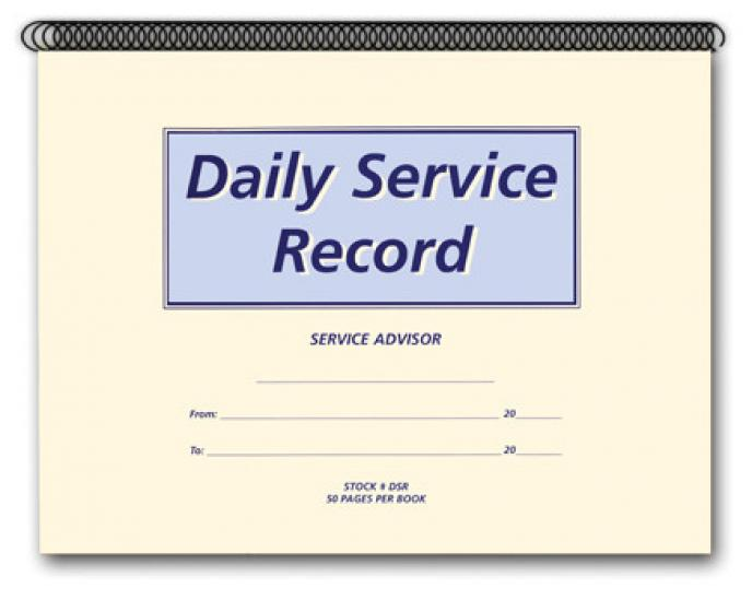 daily service record dsr book 168 autodealersupplies com is your