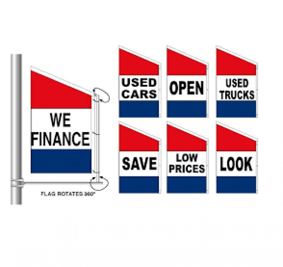 Used Car Loan Finance On Existing Car At Low Rate Of: Spacewalker Message Flag #d36 Red-white-blue