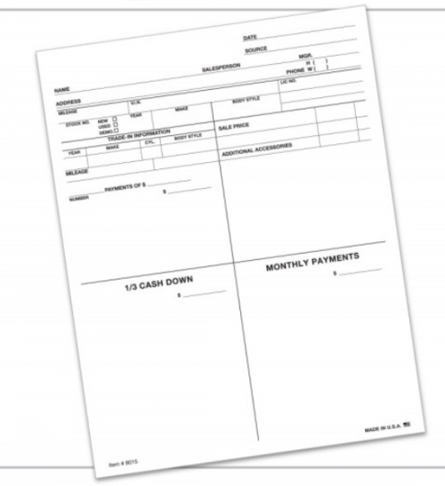 Four Square Form/ Customer Proposal #8015