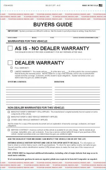 Purchase Agreement Forms #7382 | Autodealersupplies.Com Is Your #1