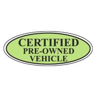 Certified Pre-Owned Vehicle Oval Sign. ez196 ...